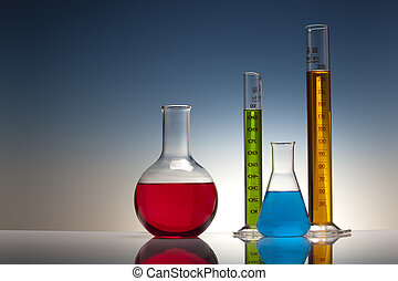 laboratoire, chimie, verre