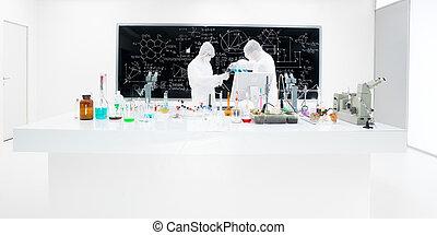 laboratoire, expérience