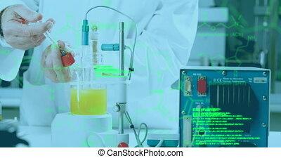 laboratoire, traitement, scientifique, mâle, données, fonctionnement, monde médical, contre