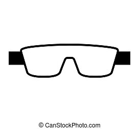 laboratorio, anteojos, aislado, icono