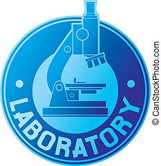 laboratorio, etiqueta