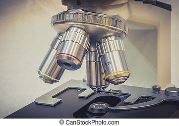 laboratorio, microscopio, sanità, scientifico, ricerca
