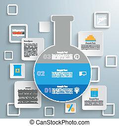 laboratorio, squadre, tubo, infographic