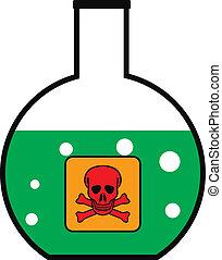 laboratorio, veleno, vetro