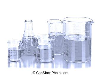 laboratorium, bekers