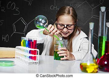 laboratorium, blond, wissenschaftler
