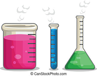 A vector set of several chemical flasks. Drawn in cartoon style, this vector is very good for design that need chemistry element in cute, funny, colorful and cheerful style. Available as a Vector in EPS8 format that can be scaled to any size without loss of quality. Elements could be separated for ...