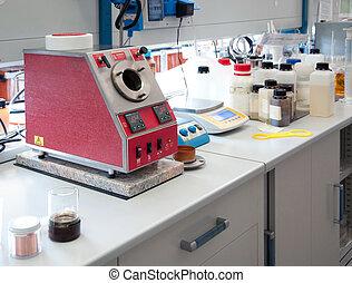laboratorium, för, kemisk, analys