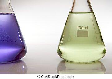 laboratorium, flasker