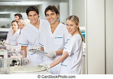 laboratorium, forscher, mannschaft