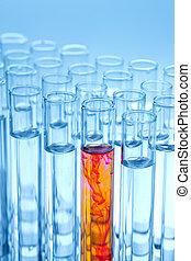 laboratorium glas, experimentera, kemi