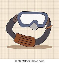 laboratorium, goggle