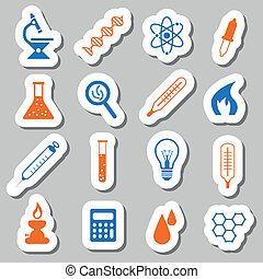 laboratorium, klistermärken