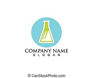 Laboratorium logo and symbols vector lab