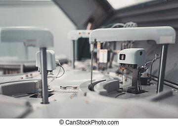 laboratorium, manipulacja, próbki, instrument