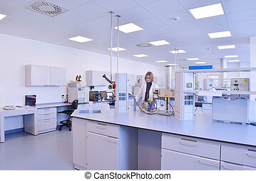 laboratorium, pracujący, naukowcy