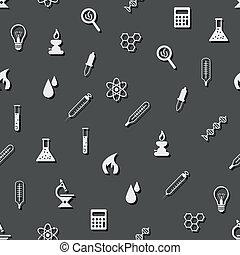 laboratorium, seamless, mönster
