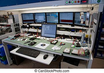 laboratorium, voor, het terugkrijgen, data