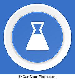laboratory blue flat design modern web icon