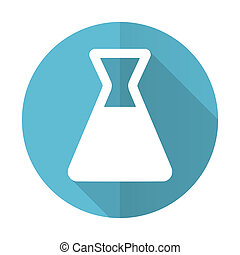 laboratory blue flat icon