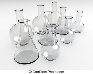laboratory bottles - An isolated glass laboratory equipment ...