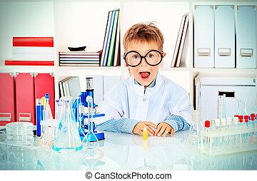 laboratory boy