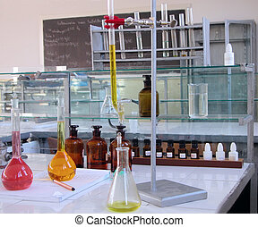 Laboratory desk - Old chemistry laboratory desk.Resubmission...