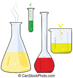 Equipment Of A Research Laboratory Chemical Glassware