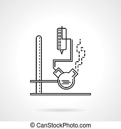 Laboratory equipment flat line vector icon