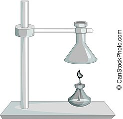 Laboratory equipment icon monochrome - Laboratory equipment...