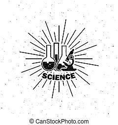 laboratory equipment label - vector illustration of...