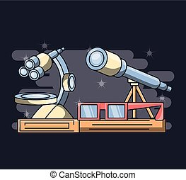 laboratory equipment science chemistry education concept