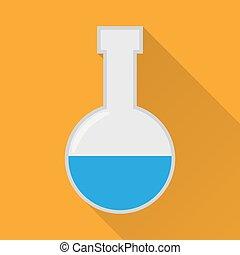 Laboratory flask flat icon flat