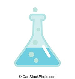 Laboratory Flask Illustration in Flat Style Design