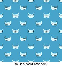 Laboratory flask pattern vector seamless blue