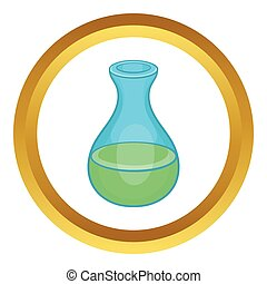 Laboratory flask vector icon