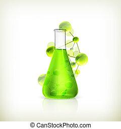 Laboratory flask, vector