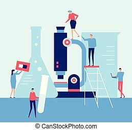 Laboratory - flat design style illustration