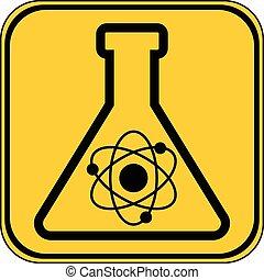 Laboratory glass button.
