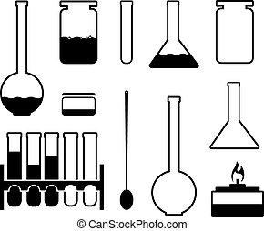 Laboratory glass icons