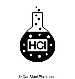 Laboratory glass with hydrochloric acid. - Laboratory glass ...