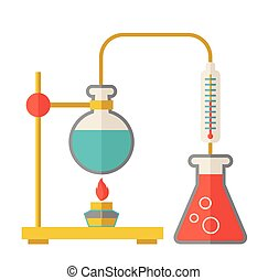 Laboratory glassware - A laboratory glassware use for...