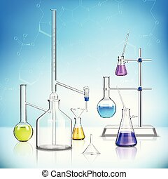 Laboratory Glassware Composition - Laboratory glassware...