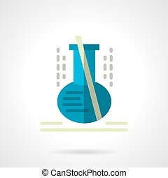 Laboratory glassware flat color vector icon