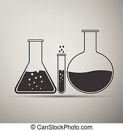 Laboratory glassware icon.
