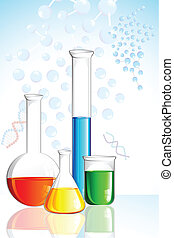 Laboratory Glassware - illustration of laboratory glassware...