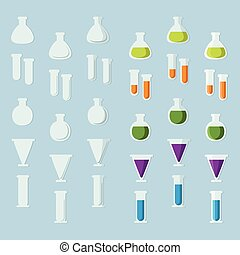 Laboratory glassware set