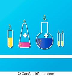 Laboratory glassware sketch