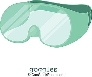 Laboratory goggles icon, cartoon style