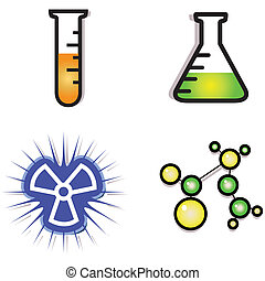laboratory icons - a vector illustration of a laboratory ...